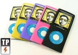 SET 5x Silicone Bescherm-Hoes voor iPod Nano 4G