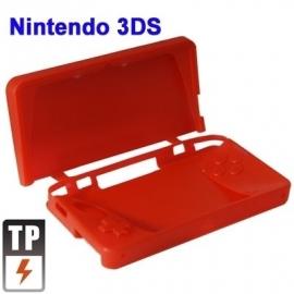 Silicone Bescherm-Hoes Skin voor Nintendo 3DS  Rood  Nieuw