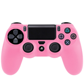 Silicone Hoes / Skin voor Playstation 4 PS4 Controller    Roze