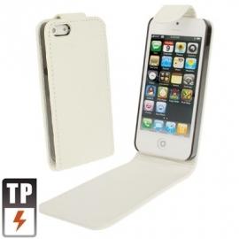 PU Flip Case Bescherm-Etui Hoes voor iPhone 5 - 5S Wit