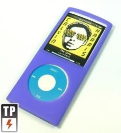 Silicone Bescherm-Hoes Skin voor  iPod Nano 4G 4   Paars