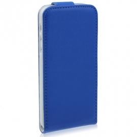 PU Flip Case Bescherm-Etui Case Hoes voor iPhone SE Blauw