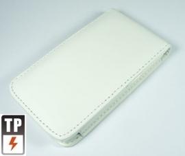 PU Flip Case / Bescherm-Etui Hoes Hoesje voor iPod Touch 4 4G Wit  *