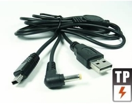USB 2in1 Data en Oplader-kabel PSP / Slim & Lite