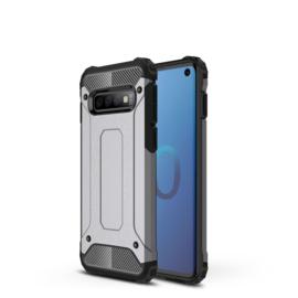 Samsung Galaxy S10 - Hybrid  Armor-Case Bescherm-Cover Hoes -  Grijs