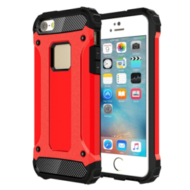 iPhone 5 - 5S - Super Sterke Armor-Case Bescherm-Cover Hoes Rood