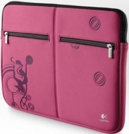 Logitech Pink Balance 15.6 Inch Laptop Sleeve Pouch Hoes