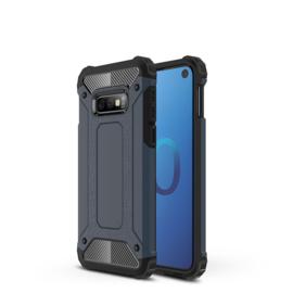 Samsung Galaxy S10e - Tough  Armor-Case Bescherm-Cover Hoes Skin - Navy Blauw