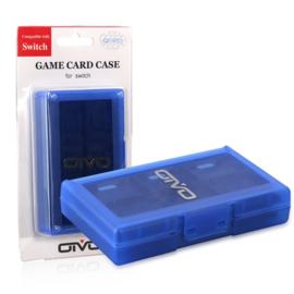 Opberg-Box Doos voor 24 Nintendo Switch Spellen    Blauw