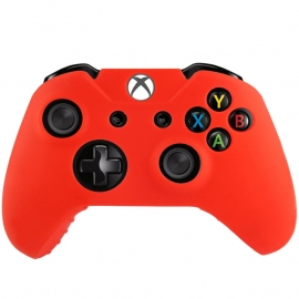 Silicone Hoes / Skin voor XBOX ONE Controller  Rood