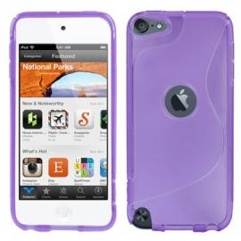 TPU Flex Bescherm-Hoes Skin Hoesje voor iPod Touch 5G 6G Paars