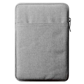 Bescherm-Opberg Hoes Etui Pouch Sleeve voor iPad 10.2 - iPad Air 9.7  Grijs