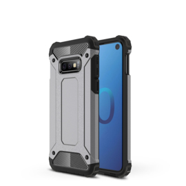 Samsung Galaxy S10e - Tough  Armor-Case Bescherm-Cover Hoes Skin - Grijs