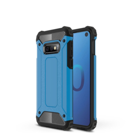 Samsung Galaxy S10e - Tough  Armor-Case Bescherm-Cover Hoes Skin - Blauw