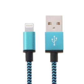Luxe Metalen Lightning Oplader - Data USB Kabel voor iPhone - iPad  2m  Roze