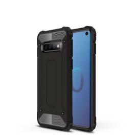 Samsung Galaxy S10 - Hybrid  Armor-Case Bescherm-Cover Hoes - Zwart