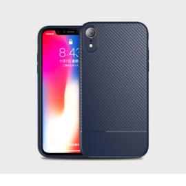 Slim Carbon Bescherm-Hoes Skin  voor iPhone XR   Blauw