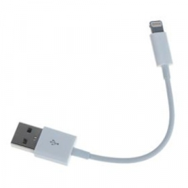 Lightning Oplader en Data USB Kabel voor iPhone  10cm.