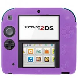 Silicone Bescherm Hoes voor Nintendo 2DS   Paars