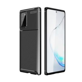 Samsung Galaxy A32 5G - Carbon TPU Bescherm-Hoes Skin - Zwart