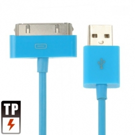 USB 2.0 Data en oplaad Kabel voor Apple iPod  2m.  Blauw