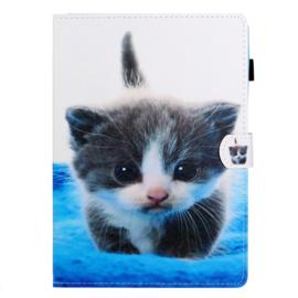 """Bescherm-Opberg Hoes Map voor iPad 9.7 -   """"Cute Cat"""""""