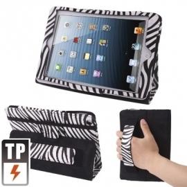 Bescherm-Etui Map met handgrip voor iPad Mini 1 - 2 - 3 Zebra