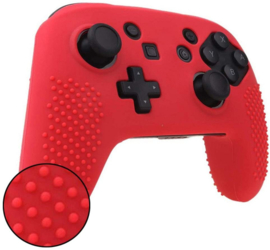 Silicone Hoes / Skin voor Switch Pro Controller  Rood