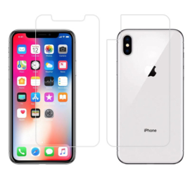 Front & Back Screenprotector Bescherm-Folie voor iPhone X Max - XS Max