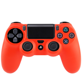 Silicone Hoes / Skin voor Playstation 4 PS4 Controller    Rood