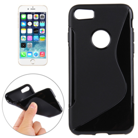 TPU S-Line Bescherm-Hoes Skin voor iPhone 8     Zwart