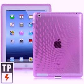 TPU Bescherm- Hoes Cover Skin voor iPad 3 Paars