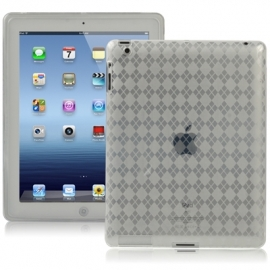 TPU Bescherm- Hoes Cover Skin voor iPad 4    Transparant