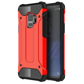 Samsung Galaxy S9 - Hybrid Tough Armor-Case Bescherm-Cover Hoes - Rood