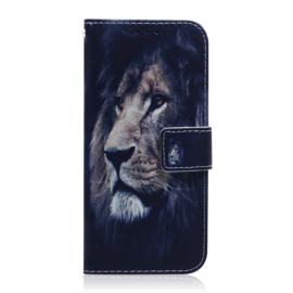 Luxe Bescherm-Etui Hoes voor Samsung Galaxy A70 - Leeuw