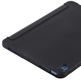 TPU Bescherm-Cover Hoes Map voor iPad Air 4 10.9  -  Zwart.  A2316 A2324