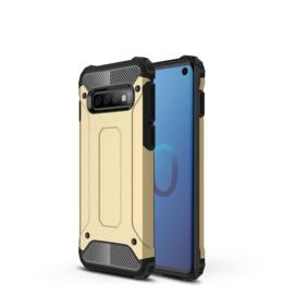 Samsung Galaxy S10 - Hybrid  Armor-Case Bescherm-Cover Hoes - Goud