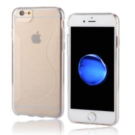 iPhone 7 of 8 - TPU S-Line Bescherm-Hoes Skin -  Transparant