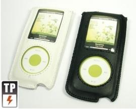 2x PU Leer Bescherm-hoes Etui Case voor iPod Nano 4G