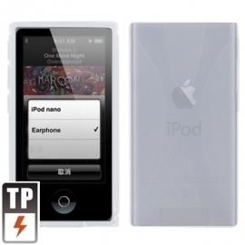 TPU Flex Bescherm-Cover Case Hoes Skin Hoesje voor iPod Nano 7 7G Clear