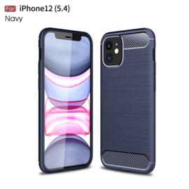 Flex-Cover TPU Bescherm-Hoes Skin voor iPhone 12 Mini   Grijs