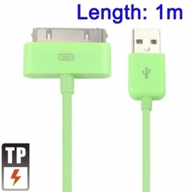 USB 2.0 Data en oplaad Kabel voor Apple iPod  1m.  Groen