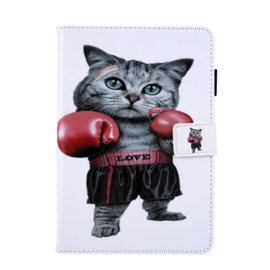 Bescherm-Opberg  Map Hoes  iPad 9.7 - iPad Air - Boxing Cat