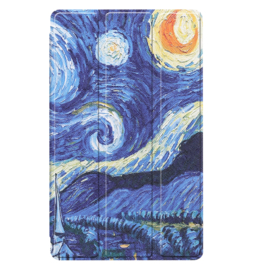 Bescherm-Cover Hoes Map voor Samsung Galaxy Tab A7 Lite 8.7  - Van Gogh Sterrenhemel