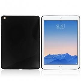 iPad Air  2 -  TPU Bescherm-Cover Skin Hoes - Zwart -   S-Line