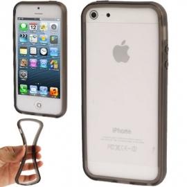 TPU Bescherm Bumper Hoes Skin Sleeve voor iPhone 5 - 5S Zwart