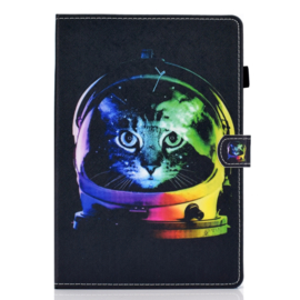 Space Cat  - Bescherm-Etui Map voor iPad 10.2 - iPad Air 10.5