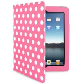 Bescherm-Opberg Hoes Etui voor iPad 2 - 3 - 4  -   Roze met Stippen