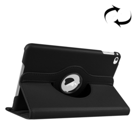 360º Standaard Bescherm Hoes Map voor iPad Mini 4 - Mini 5  Zwart
