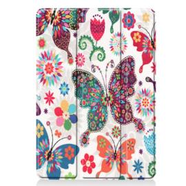 Bescherm-Cover Hoes Map voor iPad 10.2 -   Vlinders